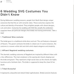 6 Wedding SVG Costumes You Didn't Know