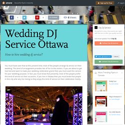 Wedding DJ Service Ottawa