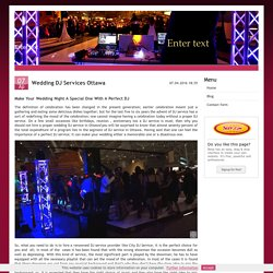 Wedding DJ Services Ottawa