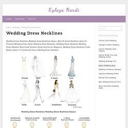 Wedding Dress Necklines - Kylaza Nardi