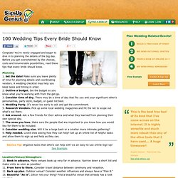 100 Wedding Tips Every Bride Should Know