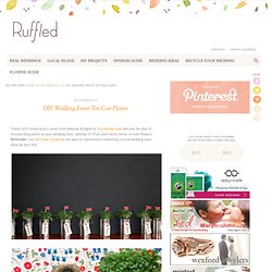Ruffled® | DIY Wedding Favor Contest Tin Can Strawberry Plants