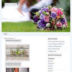 wedding flowers information