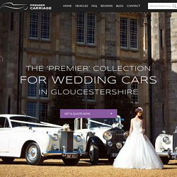Wedding Car Hire In Gloucestershire From Premier Carriage