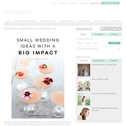Once Wed | Wedding Ideas, Used Wedding Dresses, and Wedding Blog