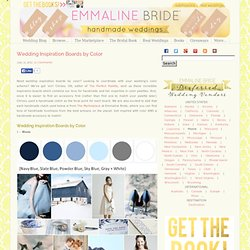 Wedding Inspiration Boards by Color
