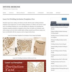 Laser Cut Wedding Invitation Templates Free