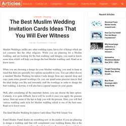 The Best Muslim Wedding Invitation Cards Ideas That You Will Ever Witness!