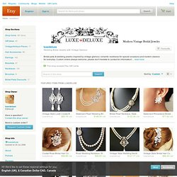 Wedding Bridal Jewelry with Vintage Glamour by luxedeluxe on Etsy