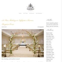 Mini-Wedding at Lafayette's Premier Reception Venue
