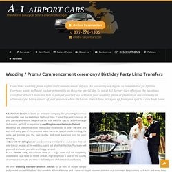 Wedding Limos Ann Arbor MI - Prom Limousine, Limo Service - A-1 Airport Cars
