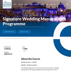 Best Online Wedding Event Management Courses in India
