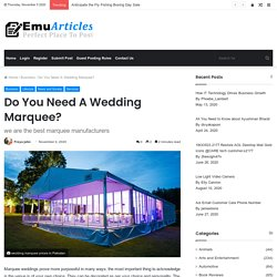 wedding marquee prices in Pakistan