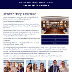 Wedding Cruise Packages Melbourne