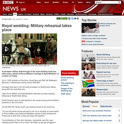 Royal wedding: Military rehearsal takes place