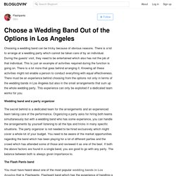 Choose a Wedding Band Out of the Options in Los Angeles
