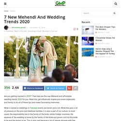New Wedding Trends 2020 – Good Morning Pakistan Magazine