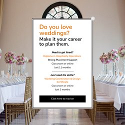 Wedding and Social Event Planning Careers
