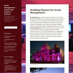 Wedding Planner for Event Management