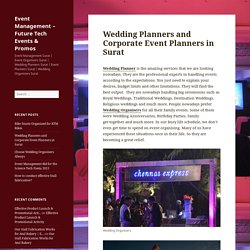 Wedding Planners and Corporate Event Planners in Surat
