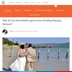Why Do You Need Mobile App for Your Wedding Planning Business?