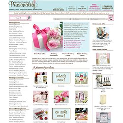 Wedding Favors, Bridal Shower Favors, Party Favors & Baby Shower Favors: Products With Personality