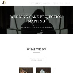 Wedding Cake Projection Mapping Specialists in London, Suffolk, Essex & UK
