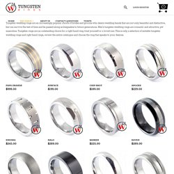 Wedding Rings - Tungsten Mens Rings and Bands Canada by W74