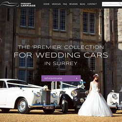 Perfect Wedding Cars To Hire In Surrey From Premier Carriage