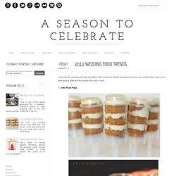 2012 Wedding Food Trends