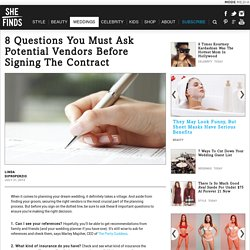 What To Ask Wedding Vendors