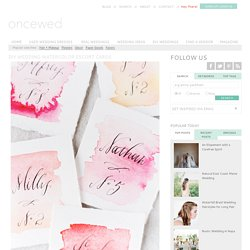DIY Wedding Watercolor Escort Cards - DIY Weddings - Once Wed