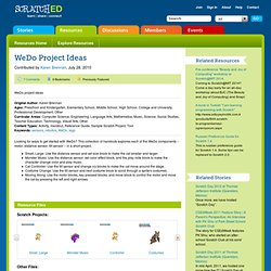 WeDo Project Ideas