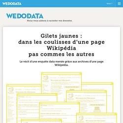 – Gilets jaunes: dans les coulisses d'une page Wikipédia pas commes les autres