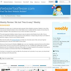 Weebly Review: We test Weebly's features and pricing
