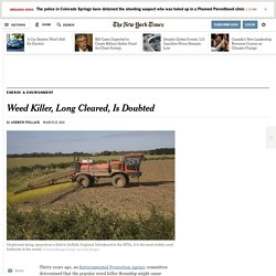 Weed Killer, Long Cleared, Is Doubted