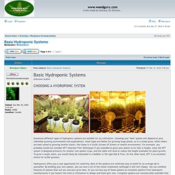 View topic - Basic Hydroponic Systems