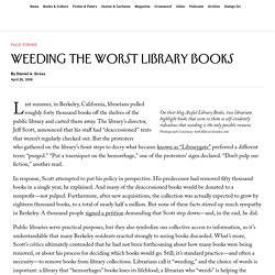 Weeding the Worst Library Books