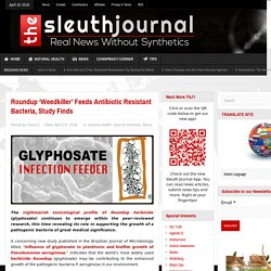 Roundup 'Weedkiller' Feeds Antibiotic Resistant Bacteria, Study Finds