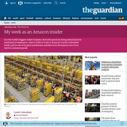 My week as an Amazon insider