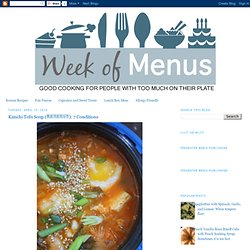 Week of Menus