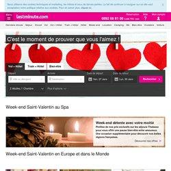 Week-end pour la Saint Valentin pas cher avec lastminute.com