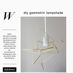 DIY GEOMETRIC LAMPSHADE