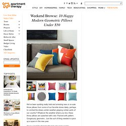 Weekend Browse: 10 Happy Modern Geometric Pillows Under $50