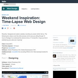 Weekend Inspiration: Time-Lapse Web Design