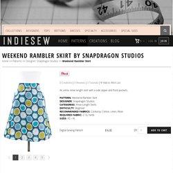 Weekend Rambler Skirt Sewing Pattern by Snapdragon Studios