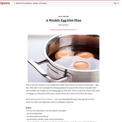 A Weekly Egg Diet Plan - Ihcg Online - Quora