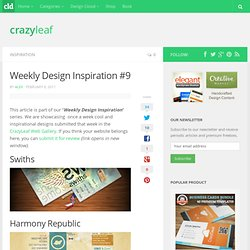 Weekly Design Inspiration #9 | CrazyLeaf Design Blog
