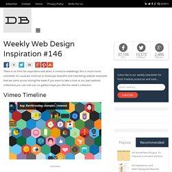 Weekly Web Design Inspiration #146