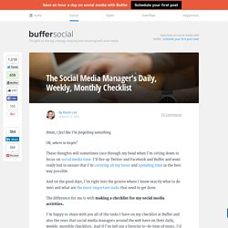 A Daily, Weekly, Monthly Social Media Checklist